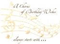 A Birthday Chorus